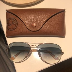 Ray Ban Blue Gradient Aviator Sunglasses